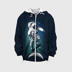 Куртка с капюшоном детская Космический скейтбординг цвета 3D-белый — фото 1