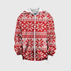Куртка 3D с капюшоном для ребенка Красный свитер - фото 1