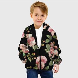 Детская 3D-куртка с капюшоном с принтом TOP Roses, цвет: 3D-черный, артикул: 10113735205458 — фото 2