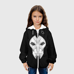Детская 3D-куртка с капюшоном с принтом Black, цвет: 3D-белый, артикул: 10114906705458 — фото 2