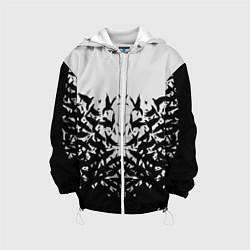 Куртка с капюшоном детская Птичий вихрь цвета 3D-белый — фото 1