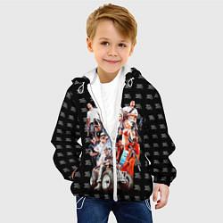 Детская 3D-куртка с капюшоном с принтом GTA 5 Band, цвет: 3D-белый, артикул: 10118001505458 — фото 2