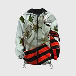 Куртка с капюшоном детская Георгиевская лента цвета 3D-черный — фото 1
