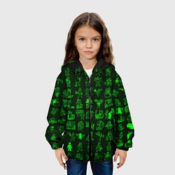Детская 3D-куртка с капюшоном с принтом Персонажи Fallout, цвет: 3D-черный, артикул: 10136370105458 — фото 2