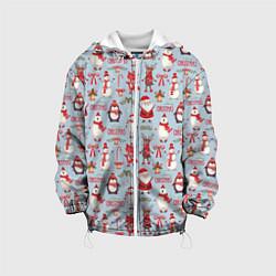 Детская 3D-куртка с капюшоном с принтом Рождественская Милота, цвет: 3D-белый, артикул: 10136480705458 — фото 1