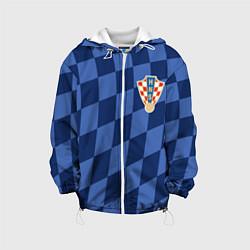 Куртка с капюшоном детская Сборная Хорватии цвета 3D-белый — фото 1