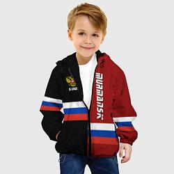 Куртка с капюшоном детская Murmansk, Russia цвета 3D-черный — фото 2