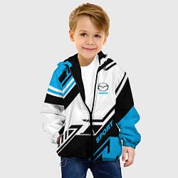 Детская 3D-куртка с капюшоном с принтом Mazda: Techno Sport, цвет: 3D-черный, артикул: 10152657105458 — фото 2