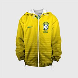 Детская 3D-куртка с капюшоном с принтом Brazil Team: WC 2018, цвет: 3D-белый, артикул: 10154614505458 — фото 1