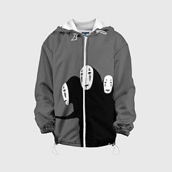 Детская 3D-куртка с капюшоном с принтом Унесенные призраками, цвет: 3D-белый, артикул: 10155872305458 — фото 1
