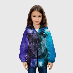 Куртка с капюшоном детская Милый пёс цвета 3D-черный — фото 2