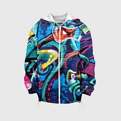 Детская 3D-куртка с капюшоном с принтом Street Fashion, цвет: 3D-белый, артикул: 10173638105458 — фото 1