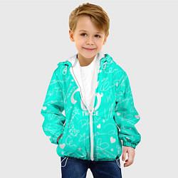Детская 3D-куртка с капюшоном с принтом TWICE АВТОГРАФЫ, цвет: 3D-белый, артикул: 10192887505458 — фото 2