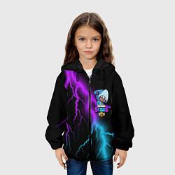 Куртка с капюшоном детская Brawl Stars LEON SHARK цвета 3D-черный — фото 2