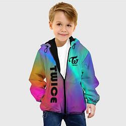 Детская 3D-куртка с капюшоном с принтом TWICE, цвет: 3D-черный, артикул: 10201492905458 — фото 2
