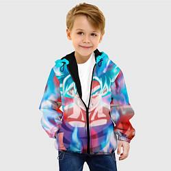 Детская 3D-куртка с капюшоном с принтом Гоку, цвет: 3D-черный, артикул: 10203566705458 — фото 2