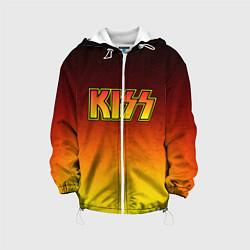 Куртка с капюшоном детская KISS цвета 3D-белый — фото 1