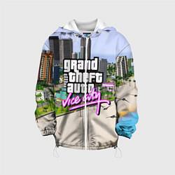 Куртка с капюшоном детская GTA REDUX 2020 цвета 3D-белый — фото 1