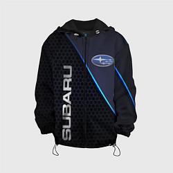 Куртка с капюшоном детская SUBARU цвета 3D-черный — фото 1