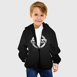 Детская 3D-куртка с капюшоном с принтом NISSAN, цвет: 3D-черный, артикул: 10208568705458 — фото 2