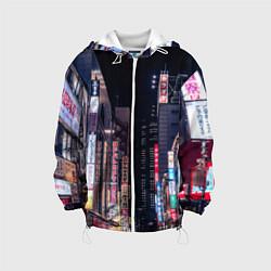 Куртка 3D с капюшоном для ребенка Ночной Токио - фото 1