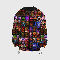 Детская 3D-куртка с капюшоном с принтом Five Nights At Freddy's, цвет: 3D-черный, артикул: 10211300905458 — фото 1