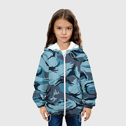 Куртка 3D с капюшоном для ребенка Камуфляж Полиции - фото 2