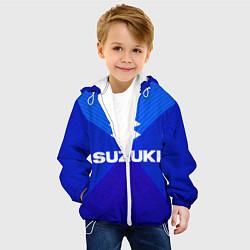 Детская 3D-куртка с капюшоном с принтом SUZUKI, цвет: 3D-белый, артикул: 10246555905458 — фото 2