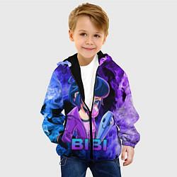 Куртка с капюшоном детская BRAWL STARS BIBI цвета 3D-черный — фото 2