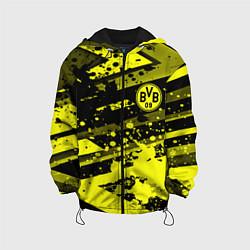 Детская 3D-куртка с капюшоном с принтом Borussia Dortmund, цвет: 3D-черный, артикул: 10261600105458 — фото 1