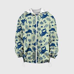 Детская 3D-куртка с капюшоном с принтом Finding Nemo, цвет: 3D-белый, артикул: 10274685705458 — фото 1
