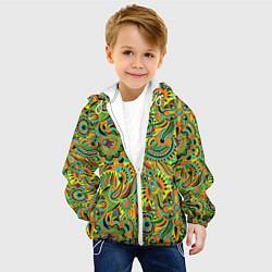Детская 3D-куртка с капюшоном с принтом Узор, цвет: 3D-белый, артикул: 10063854205458 — фото 2