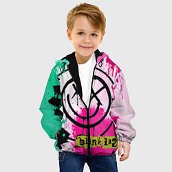 Куртка с капюшоном детская Blink-182: Purple Smile цвета 3D-черный — фото 2