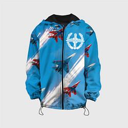 Куртка 3D с капюшоном для ребенка Самолеты ВВС - фото 1