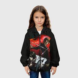 Куртка с капюшоном детская Тетрадь смерти цвета 3D-черный — фото 2
