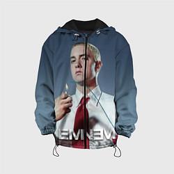Куртка с капюшоном детская Eminem Fire цвета 3D-черный — фото 1