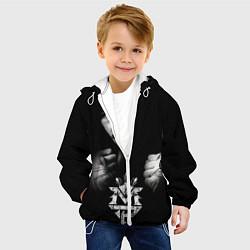 Куртка с капюшоном детская Менни Пакьяо цвета 3D-белый — фото 2