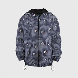 Куртка с капюшоном детская Эмодзи цвета 3D-черный — фото 1