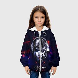 Куртка с капюшоном детская Love pirate station цвета 3D-белый — фото 2
