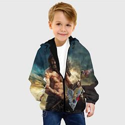 Куртка с капюшоном детская Ролло цвета 3D-черный — фото 2