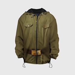 Детская 3D-куртка с капюшоном с принтом Униформа солдата, цвет: 3D-черный, артикул: 10075051105458 — фото 1