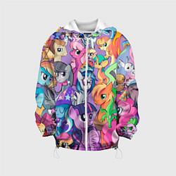 Куртка с капюшоном детская My Little Pony цвета 3D-белый — фото 1