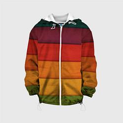 Детская 3D-куртка с капюшоном с принтом Colored fence, цвет: 3D-белый, артикул: 10077544405458 — фото 1