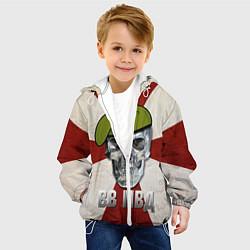 Куртка с капюшоном детская Череп: ВВ МВД цвета 3D-белый — фото 2