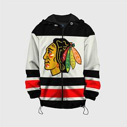 Куртка с капюшоном детская Chicago Blackhawks цвета 3D-черный — фото 1