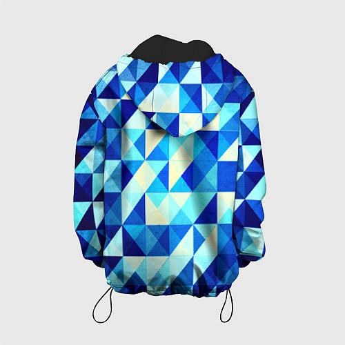 Детская куртка Синяя геометрия / 3D-Черный – фото 2