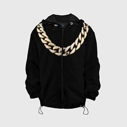 Куртка с капюшоном детская Золотая цепь цвета 3D-черный — фото 1