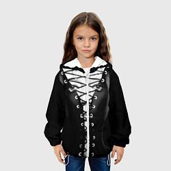 Куртка с капюшоном детская Шнуровка цвета 3D-белый — фото 2