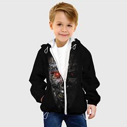 Куртка с капюшоном детская Терминатор: Генезис цвета 3D-белый — фото 2