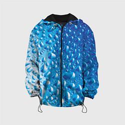 Детская 3D-куртка с капюшоном с принтом Капли воды, цвет: 3D-черный, артикул: 10085377105458 — фото 1